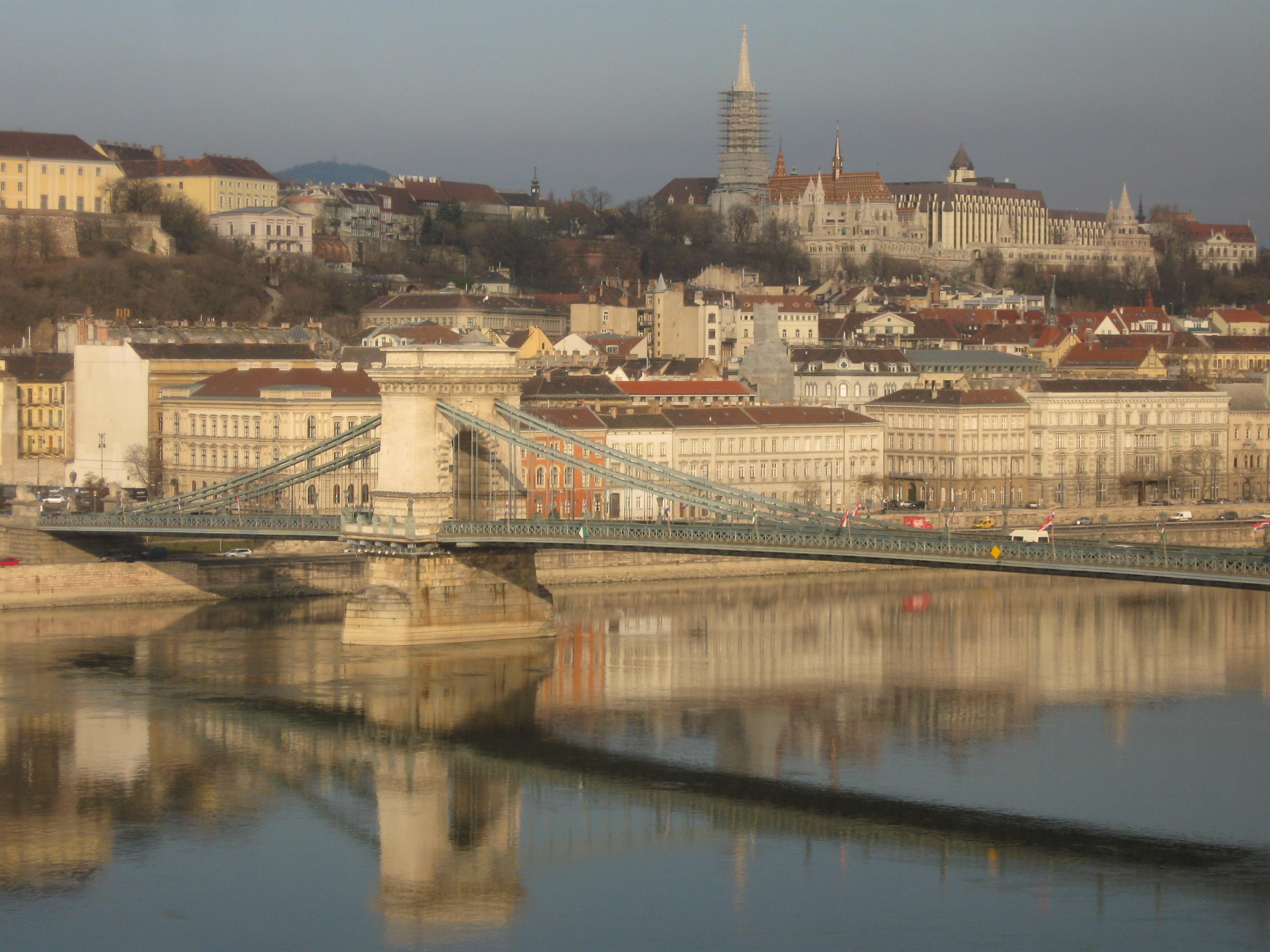 Szechenyi Chain Bridge, Budapest, Hungary, 2010