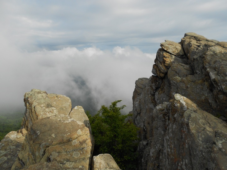 Looking west from Humpback Rocks around 8:30 a.m.