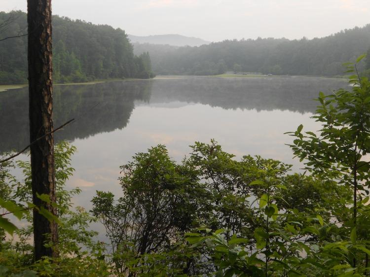 The lake around 6:30 a.m.